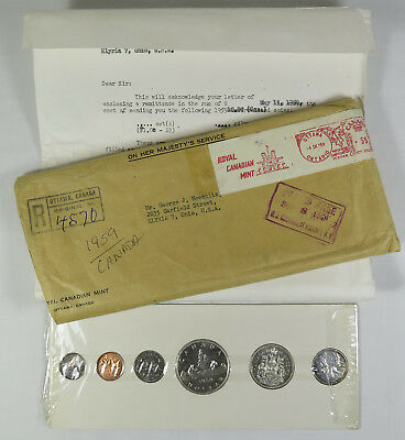 1959 Canada Proof Like 6-Coin Set With Original Packaging
