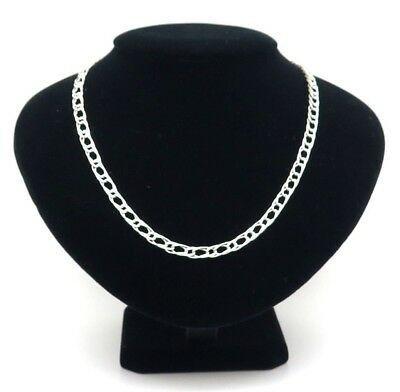925 Sterling Silver Double Curb Link Chain Necklace 20 inch