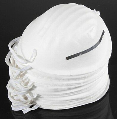 15 Pcs - DISPOSABLE NUISANCE LIGHTWEIGHT DUST MASK WITH ELASTIC STRAPS Diy Dusty