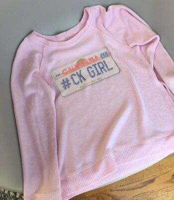 "California Kisses Sweatshirt ""CK GIRL"" girls size L (10) - Gently Worn"