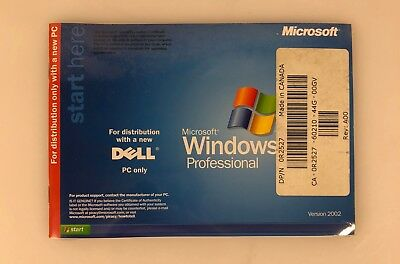 DELL REINSTALL CD Microsoft Windows XP Professional Service