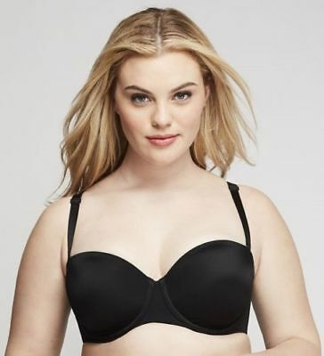 aff75408cb Lane Bryant Cacique Lightweight Multi Way Strapless Bra Underwire Black 42C  42H+