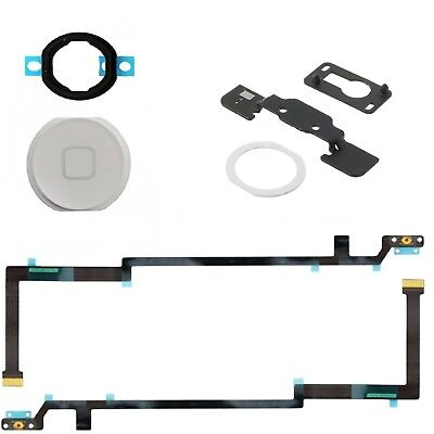 For iPad Air Home Button Kit With Flex Cable Seal & Bracket White