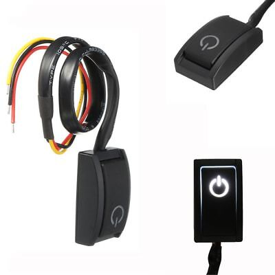 Auto Paste LED Light DC12V 200mA ON/OFF Switch Latching Car Push Button