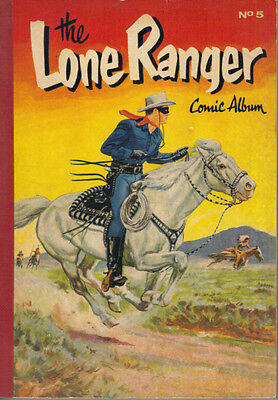 THE LONE RANGER COMIC ALBUM No.5 - WORLD DISTRIBUTORS 1954 - PBACK - VERY GOOD