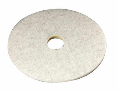 """3m Natural Blend Floor Pad 20 """" Dia 3300 Series White Boxed Pack of 5"""