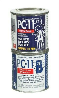 Pc-11 White Epoxy Paste Glass, Brick, Rubber Slate Bulk 1 Lb