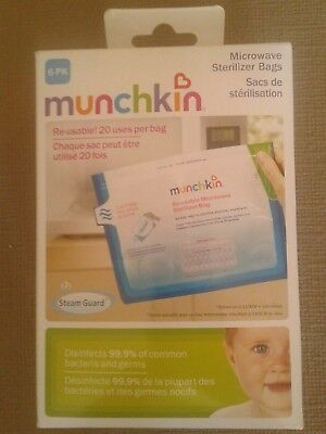 1 Pack of Munchkin Re-usable Microwave Sterilizer Bags = 6 bags