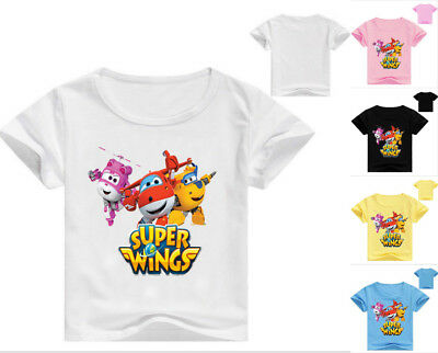Super Wings T shirts Kids Boys Girls Summer Cartoon T shirts Tees Casual Tops