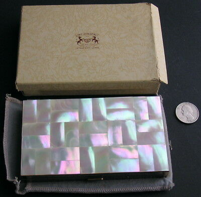 Vintage Napier Mother of Pearl MOP Cigarette Case Compact Carry All Carryall