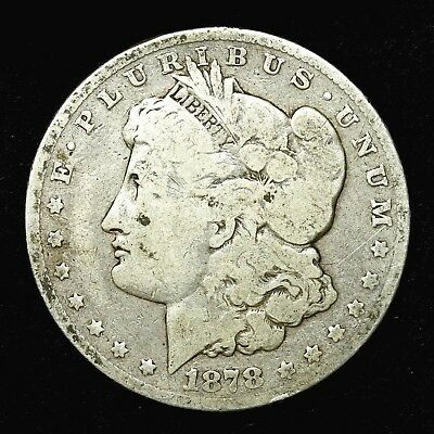 1878 P ~**1ST YEAR ISSUE**~ Silver Morgan Dollar Rare US Old Antique Coin! #518