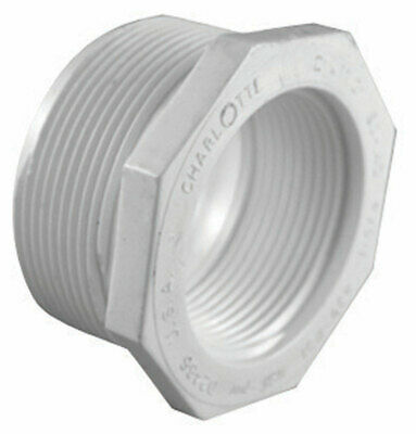 "Charlotte Pipe Reducer Bushing Mpt X Fpt 1-1/4 "" X 1/2 "" White Schedule 40 Pvc"
