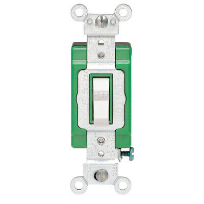 Leviton  Industrial  30 amps Toggle  Switch  White  1 pk