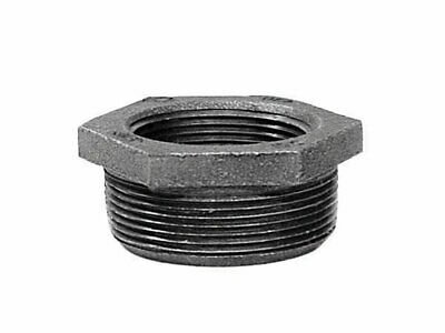"""B & K Hex Bushing Galvanized 1-1/4 """" X 1/2 """" Malleable Iron Pack of 5"""