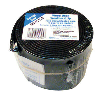 Prime-Line Weatherstrip 9' Black Wood Carded