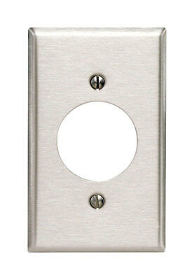 Leviton Wall Plate Stainless Steel 1 Gang Std Size Pack of 10