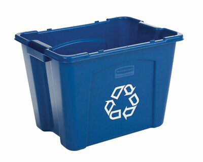 """Rubbermaid Recycling Tote 14 Gal 11-3/4 """" W X Resin Pack of 6"""