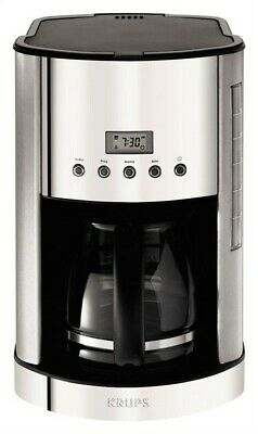 Krups Coffeemaker Programmable 12 Cup Stainless Steel Permanent