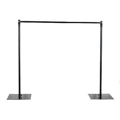 10ftx10ft Heavy Duty Pipe and Drape Backdrop Support w/ Weighted Steel Base
