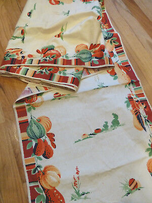 Vintage Dish Tea Towel Table Runner Cotton Fabric 17.5 wide x 6+ Yards! Cactus