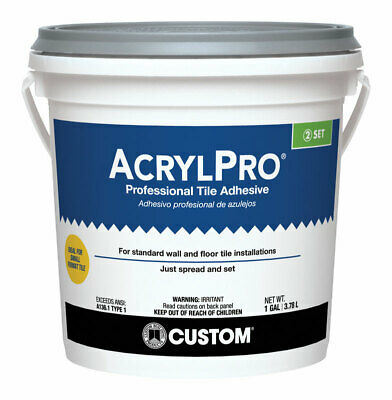 Acrylpro Ceramic Tile Adhesive Interior Walls Floors Exposed To Water Tub Gl