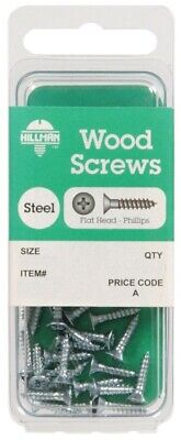 Antiques The Hillman Group 5837 Wood Screw Screws 12 X 2-Inch