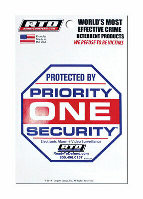 Priority Security Decal Pack Of 12
