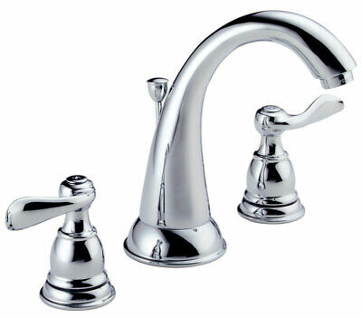 """Delta Lavatory Faucet Two Handle Windemere 1.5 Gpm 6""""-16"""" Centers CHRO Fi"""