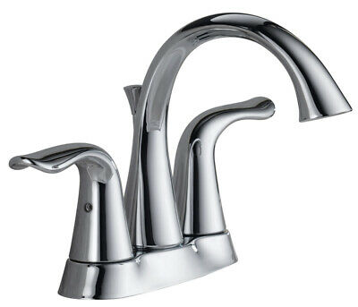 """Delta Lavatory Faucet Two Handle Lahara Series 1.5 Gpm 4"""" Centers CHRO"""