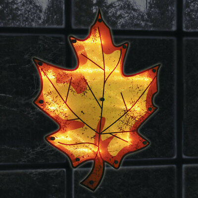 """Impact Innovations Silhouette Lighted Maple Leaf Clear 16"""""""