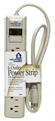Helping Hand 85060 6-Outlet Power Strip With Surge Suppressor With 3' Cord