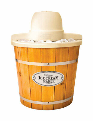 Ice Cream Maker Wood 4qt
