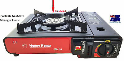Camping Portable Gas Burner Butane Stove Cooker Windshield With Case Red HW361
