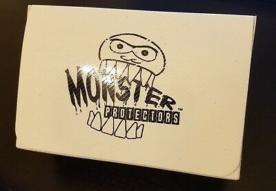 Monster Double Deck Box Trading Card Game Yugioh MTG White Dual Deckbox - USED