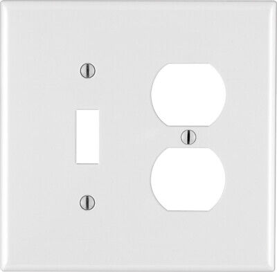 Leviton 3 Gang Midway 2 Toggle 1 Duplex Combination Nylon Wall Plate