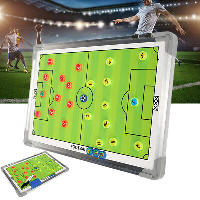 Portable Soccer Football Tactical Board Guidance Training Coaching Magnetic Kit
