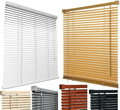 PVC WINDOW VENETIAN BLIND CURTAINS BLINDS TRIM ABLE 25mm SLATS EASY FITTING