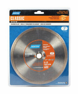 """Norton 02788 7"""" Dry Or Wet Cutting Continuous Rim Saw Blade"""