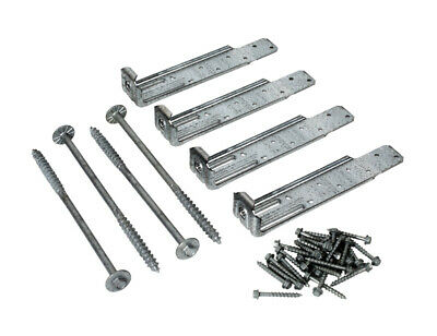 Simpson Strong-Tie  Zmax  Silver  Steel  Deck Tension Tie Kit  14 Ga. Pack Of 4
