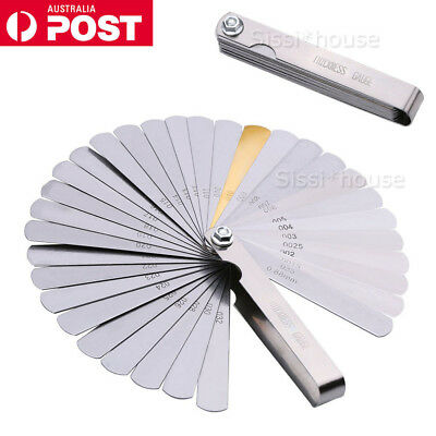 NEW 32 Blade Feeler Gauge Dual Marked MM/Inch Thickness Gap Metric Filler Tool