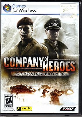 New Sealed Company Of Heroes: Opposing Fronts - PC DVD Game 752919493267