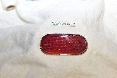 Red glass Lens unknown old 1930's 1940's tail stop lamp light USA 1920's ford ?