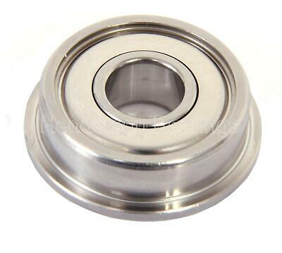 SF63800ZZ 10x19x7mm Stainless Steel Ball Bearing, Flanged