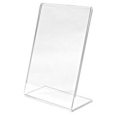 Acrylic Sign Display Holder Stand Menu Holders Table Card Photo Frames LOT 12