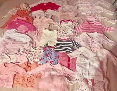 Baby Girls Clothes Bundle 7-9lbs New Born First Size 33 ITEMS Huge Lot