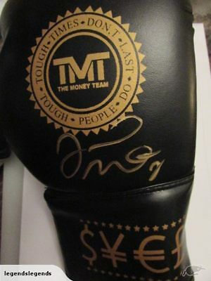 Floyd Mayweather Signed Tmt Money Boxing Glove-Coa