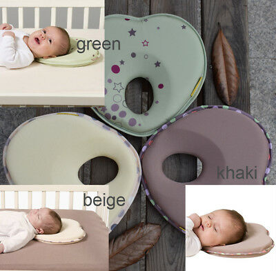 Newborn Baby Infant Anti Roll Prevent Flat Foam Memory Pillow Head Support Neck