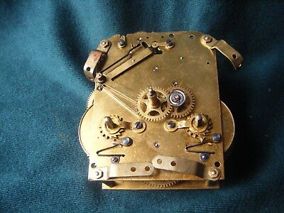 Old Clock Movement H A C Mantel Clock for spares or repairs