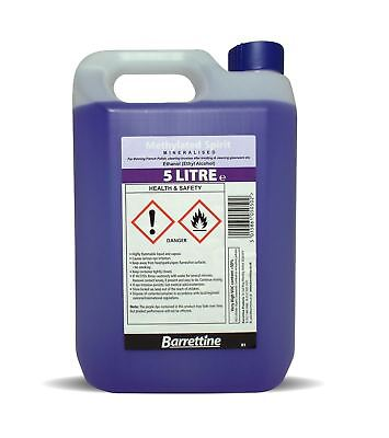 Methylated Spirits / Meths, (Denatured Alcohol) - 5 Litre / (5L)