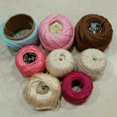 Mixed Balls DMC Anchor Rose Clever Country Clark Crochet Thread Cotton